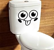 Недорогие -Абстракция Мультипликация Наклейки Простые наклейки Декоративные наклейки на стены Наклейки для туалета, Бумага Винил Украшение дома