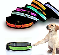 Коты Собаки ОшейникиСветоотражающий Светодиодные фонарики Регулируется/Выдвижной Батареи прилагаются Электроника/Электрический Строб