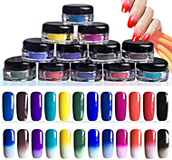 cheap -12pcs Glitter & Poudre Powder Glitters Classic Neon & Bright High Quality Daily