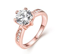 Women's Engagement Ring Band Rings Crystal Fashion Simple Style Zircon Alloy Round Jewelry For Wedding Party Halloween Birthday