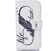 For Samsung Galaxy S7 Edge S7 PU Leather Material 8 Word Feather Pattern Painted Phone Case S6 Edge S6 Edge Plus S6 S5