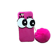 For DIY Case Back Cover Case Big Eyes Hair Ball Plush Case for Apple iPhone 7 Plus iPhone 7 iPhone 6s Plus/6 Plus iPhone 6s/6