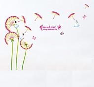 Недорогие -Животные ботанический Цветы Наклейки Простые наклейки 3D наклейки Декоративные наклейки на стены Фото наклейки,Бумага Винил материал