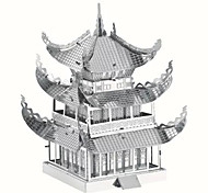cheap -3D Puzzles Jigsaw Puzzle Metal Puzzles Model Building Kits Toys Famous buildings Chinese Architecture Architecture 3D DIY Metal Kids'