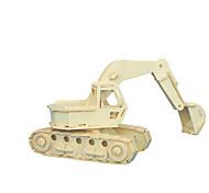 Набор для творчества Конструкторы 3D пазлы Обучающая игрушка Пазлы Деревянные пазлы Игрушки Машина Экскаватор профессиональный уровень 1