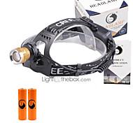 U'King Налобные фонари Налобный фонарь Светодиодная лампа 3000 lm 4.0 Режим Cree XP-E R2 Фокусировка Компактный размер Детектор подделки