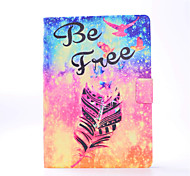 For iPhone iPad Pro 9.7'' iPad 2 / 3 / 4 PU Leather Material Feather Pattern Painted Flat Protective Cover iPad Air 2 Air