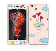 cheap -For Apple iPhone 6s/6 4.7 Tempered Glass with Soft Edge Full Screen Coverage Front Screen Protector and Back Protector Cat Balloon Cartoon Pattern
