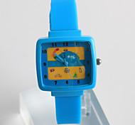 Жен. Модные часы Повседневные часы Кварцевый / силиконовый Группа На каждый день Синий Серый Розовый
