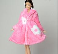 Больше аксессуаров Для Кукла Барби Пальто Для Девичий игрушки куклы