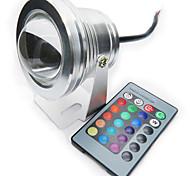 Rgb 10w подвел подводный светильник ip67 12 цвет с инфракрасным пультом дистанционного управления аквариумным освещением dc12v