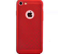 For Apple iPhone 7 7Plus 6S 6Plus Case Cover Oil Surface Skin Care Touch PC Material Grid Hollow Heat Dissipation Phone Case