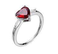 Ring Zircon Cubic Zirconia Steel Fashion Red Jewelry Wedding Daily 1pc