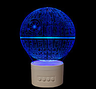 Недорогие -1 шт. 5 цветов оригинальные подарки для дома bluetooth аудио ручка управления 3D ночник