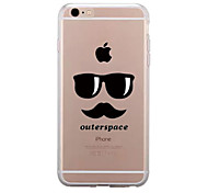 For IPhone 7 Case Back Cover Case TPU Cartoon Glasses Beard Pattern for iPhone 7/ 7 Plus 6s/ 6 /6s Plus / 6 Plus/ SE / 5s / 5 /5C/ 4/4s