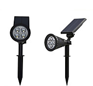 1pcs 4LED Solar Garden Light ABS Waterproof IP65 Outdoor Light White Color Led Solar Lamp