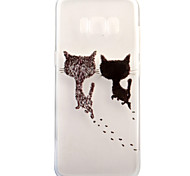 For Samsung Galaxy S8 Plus S8 Case Cover Cute Kitten Pattern Painted High Penetration TPU Material Soft Case Phone Case