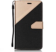 cheap -Case For Asus Card Holder Wallet with Stand Flip Magnetic Full Body Cases Solid Colored Hard PU Leather for Asus Zenfone 3 ZE520KL(5.2)