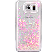 cheap -For Samsung Galaxy S6 S7 Case Cover Small Fresh Series Love Pattern Hard Side Quicksand Phone Case S4 S5 S6 edge S6 edge plus S7 edge