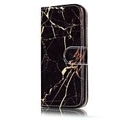 Für samsung galaxy a3 (2017) a5 (2017) case cover card holder wallet mit stand full body case marmor hartes pu leder für a5 (2016) a3