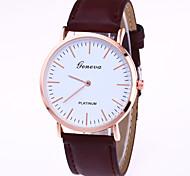 Women's Round Dial Case Leather Watch Brand Fashion Quartz Watch Sport Watch Cool Watches Unique Watches