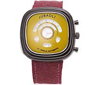 JUBAOLI Men's Sport Watch Quartz Large Dial Fabric Band Black