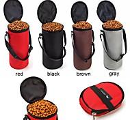 Недорогие -Кошка Собака Миски и бутылки с водой Животные Чаши и откорма Компактность Складной Черный Серый Кофейный Красный