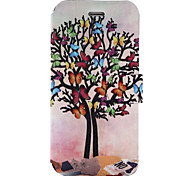 For Wiko Lenny3 Wiko Jerry Case Cover Butterfly Tree Pattern Painted PU Material Card Holder Mobile Phone Holster Phone Case