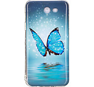 cheap -Case For Samsung Galaxy J7 Prime J5 Prime Glow in the Dark IMD Pattern Back Cover Butterfly Soft TPU for J7 Prime J7 (2016) J7 J5 Prime
