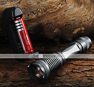 UltraFire E6 LED Flashlights / Torch LED 2000 lm 5 Mode Cree XM-L T6 with Battery and Charger Zoomable Adjustable Focus