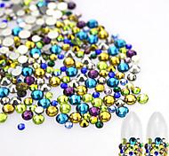500pcs/bag Mixed Fashion Sweet Style Colorful Rhinestone Nail Art Beauty Sparkling Decoration DIY Glitter Colored Rhinestone Decoration