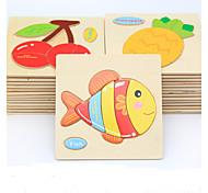 Недорогие -Образовательные игры с карточками Пазлы Деревянные пазлы Игры с последовательностью Обучающая игрушка Рыбки Животные Своими руками