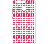 For Huawei P9 Pattern Case Back Cover Case Pink Peach Heart Soft TPU for  Huawei P9 / P9 Lite / P8 / P8 Lite