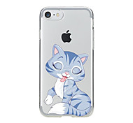 cheap -For Transparent Pattern Case Back Cover Case Cartoon Lovely Cat Soft TPU for IPhone 7 7Plus iPhone 6s 6 Plus iPhone 6s 6 iPhone 5s 5 5E 5C 4 4s