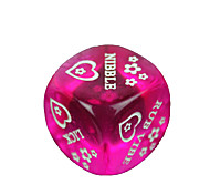 cheap -Spoof Fun Dice - Purple + Pink (2 PCS)
