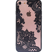cheap -Retro Flower Pattern Openwork Relief Printing Thin PC Material Case for iPhone 7 7 Plus 6s 6 Plus SE 5s 5