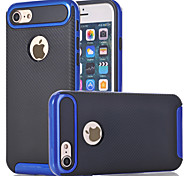 For Apple iPhone 7 Plus iPhone 6s 6 Plus iPhone SE 5s 5 Case Cover The Carbon Fiber TPU with Plastic Frame