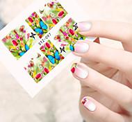 10pcs/set Summer Hot Sweet Style Nail Art Sticker Beautiful Flower&Butterfly Nail Water Transfer Decals Sweet Design STZ-097