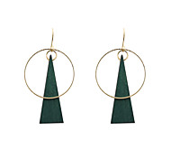 Women's Drop Earrings Unique Design Costume Jewelry Fashion Euramerican Wood Alloy Circle Geometric Triangle Shape Jewelry For Wedding