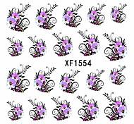 10pcs/set Hot Sale Sweet Style Beautiful Flower Design Nail Art Water Transfer Decals Nail Beauty Sticker DIY Beauty Decals XF1554