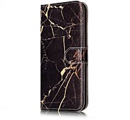 For Samsung Galaxy S7 S8 Case Cover Marble Pattern Painted Card Holder PU Leather Material Mobile Phone Case S5 S6 S7Edge S6Edge
