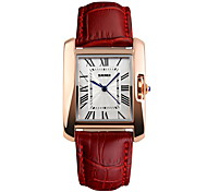 cheap -Women's Wrist Watch Japanese Water Resistant / Water Proof Leather Band Elegant / Fashion Black / Red / Brown