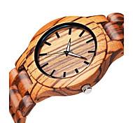 Men's Wrist watch Quartz Wooden Wood Band Elegant Beige