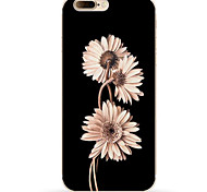 cheap -Case For Apple iPhone X iPhone 8 iPhone 8 Plus Pattern Back Cover Flower Soft TPU for iPhone X iPhone 8 Plus iPhone 8 iPhone 7 Plus