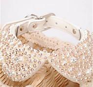 Dog Necklace Dog Clothes Fashion Crystal/Rhinestone White Costume For Pets