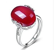 cheap -Women's Sterling Silver / Crystal / Agate Drop Ring - Unique Design Red Ring For Wedding / Party / Special Occasion