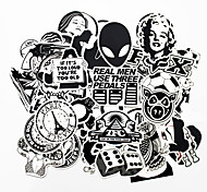 ZIQIAO 100 PCS Black and White Cool DIY Stickers For Car Skateboard Laptop Luggage Snowboard Fridge Phone Toy Styling Home Decor Stickers