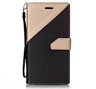 cheap -Case For Samsung Galaxy A5(2017) A3(2017) Card Holder Wallet with Stand Flip Magnetic Full Body Cases Solid Colored Hard PU Leather for
