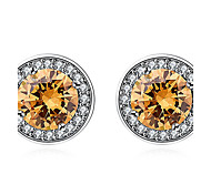 Women's Stud Earrings Crystal Imitation Diamond Fashion Personalized Euramerican Simple Style Classic Costume Jewelry Sterling Silver