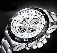 WEIDE® Men Sporty Analog Digital Watch Stainless Steel Stopwatch/Alarm/Backlight/Waterproof Wrist Watch Cool Watch Unique Watch